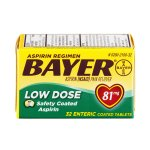 Bayer Low Dose Aspiring Safety Coated Tablets, 81 mg, 32 Count
