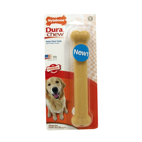 Nylabone Dura Chew Giant Peanut Butter Dog Bone