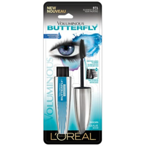 Voluminous 871 Blackest Black Butterfly Waterproof Mascara