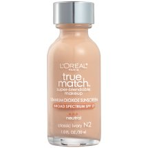 L'Oreal Paris True Match Super Blendable Makeup Foundation, N2 Classic Ivory, 1.0 fl oz