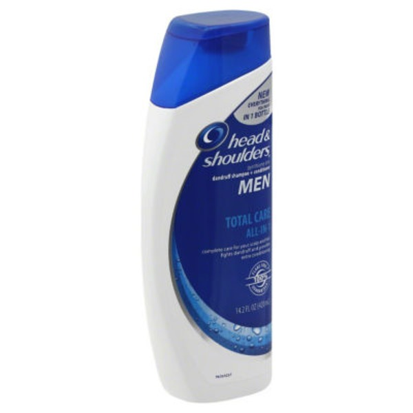 Head & Shoulders Total Care Head and Shoulders Total Care All-in-1 Anti-Dandruff Shampoo + Conditioner for Men13.5 Fl Oz  Female Hair Care