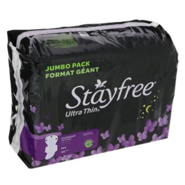 Stayfree Overnight with Wings Ultra Thin Pads