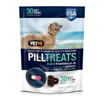 Vetiq Dog Pill Treat - Chicken Flavored Pill Treats Soft Medicine Chews for Dogs, 30 Count