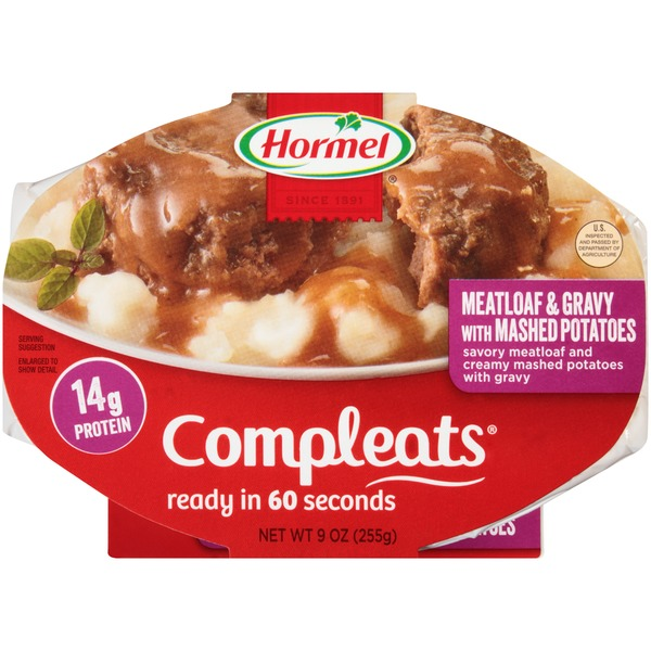Hormel Meatloaf & Gravy with Mashed Potatoes Compleats