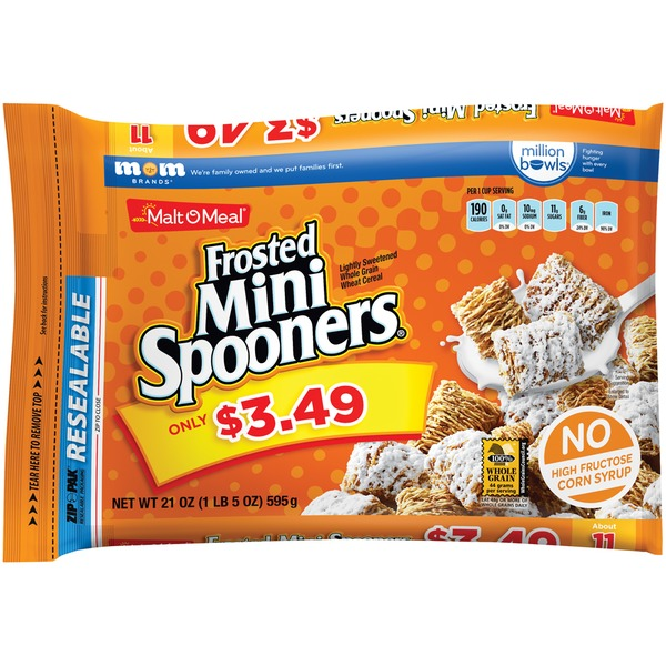 Malt-O-Meal Frosted Mini Spooners $3.49 Prepriced Cereal