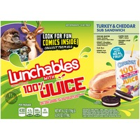 Oscar Mayer Lunchables Turkey & Cheddar Sub Sandwich With Smoothie Lunch Combinations
