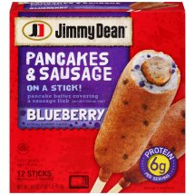 Jimmy Dean Blueberry Pancakes & Sausage Breakfast On A Stick, 12 ct