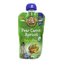 Earth's Best Organic Pear Carrot Apricot Baby Food Puree Stage 3