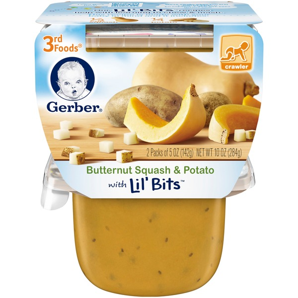Gerber 3 Rd Foods 3F Butternut Squash & Potato with Lil' Bits Purees Vegetable
