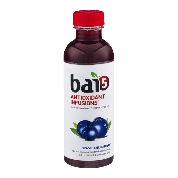 Bai 5 Antioxidant Infusions Beverage Brasilia Blueberry
