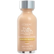 L'Oreal Paris True Match Super Blendable Makeup Foundation, W2 Light Ivory, 1.0 fl oz