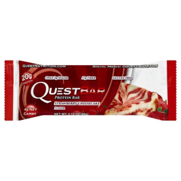 QuestBar Protein Bar Strawberry Cheesecake