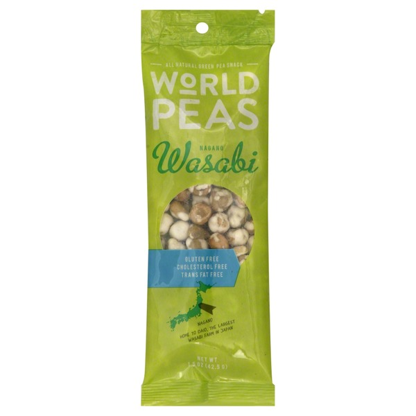 World Peas Green Pea Snack, Nagano Wasabi
