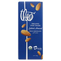 Theo Milk Chocolate, Salted Almond, 45%, Organic, Wrapper