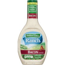 Hidden Valley Original Ranch Salad Dressing, Bacon, 16 Fluid Ounces