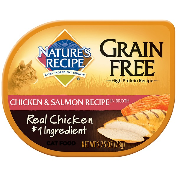 Nature's Recipe Grain Free Chicken & Salmon Recipe in Broth Cat Food