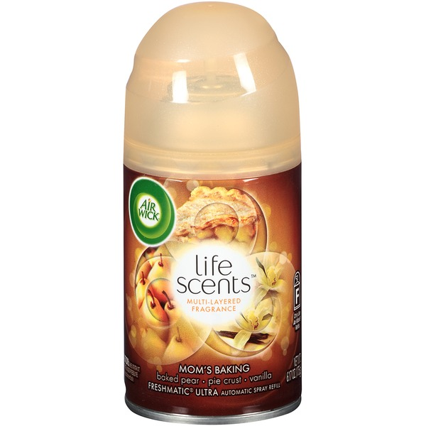 Air Wick Freshmatic Ultra Life Scents Mom's Baking Baked Pear Pie Crust Vanilla Multi-Layered Fragrance Automatic Spray Refill