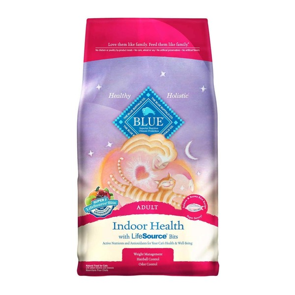 Blue Buffalo Healthy Holistic Indoor Health with LifeSource Bits, Adult Cat