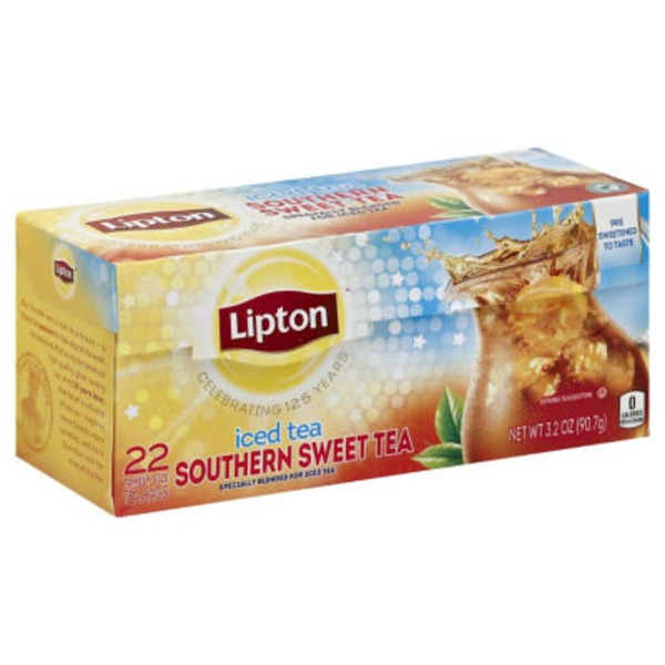 Lipton Southern Sweet Tea Iced Tea Family-Sized Tea  Bags