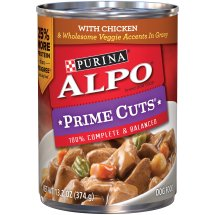 Purina ALPO Prime Cuts with Chicken & Wholesome Veggie Accents in Gravy Wet Dog Food, 13.2 Oz.
