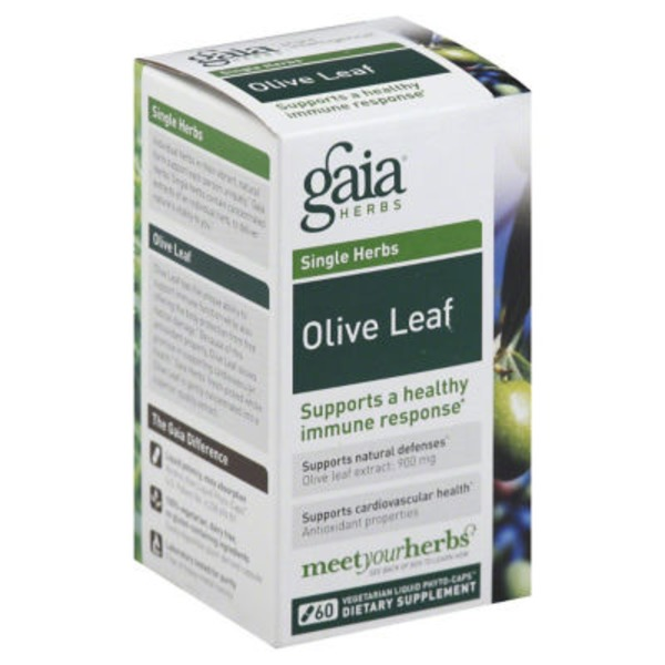 Gaia Herbs Olive Leaf Dietary Supplement