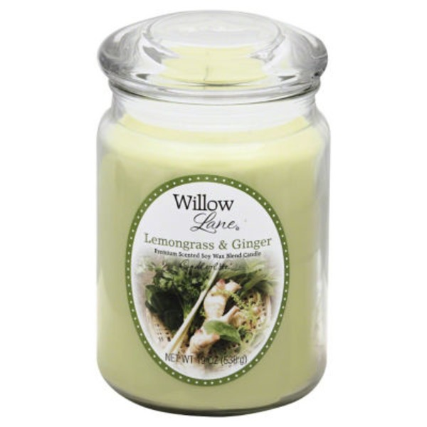 Willow Lane Lemongrass & Ginger Soy Wax Blend Candle