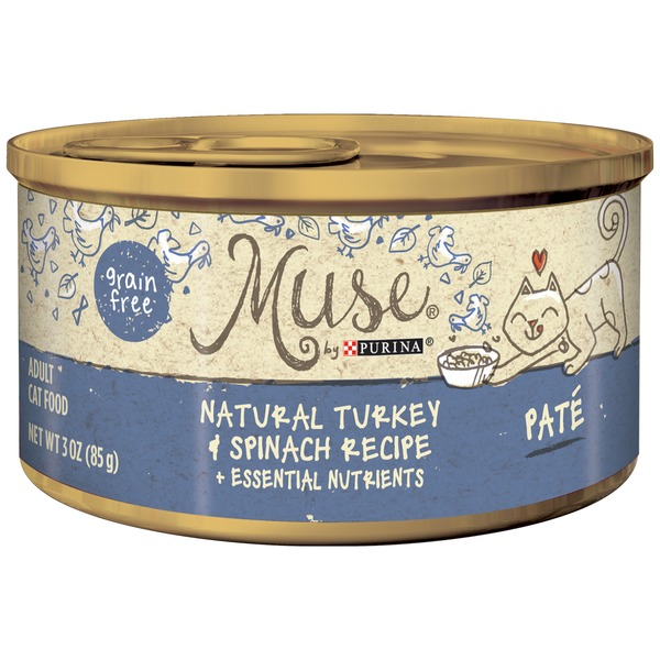 Muse Wet Turkey & Spinach Recipe Pate Cat Food