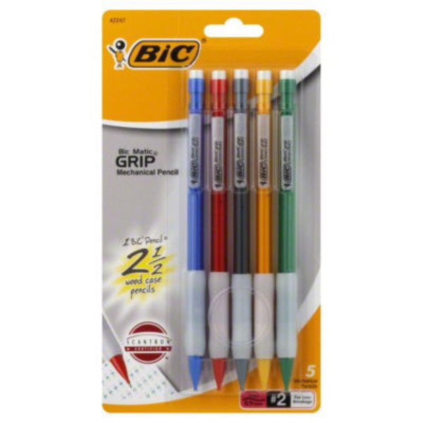 BiC Matic Grip (0.9 Mm) No. 2 Mechanical Pencils