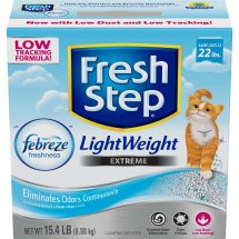 Fresh Step Lightweight Extreme with Febreze Freshness, Clumping Cat Litter, Scented, Choose Your Size