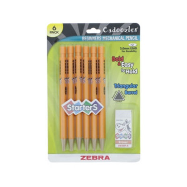 Zebra Cadoozles Starters Triangular Barrel Pencil