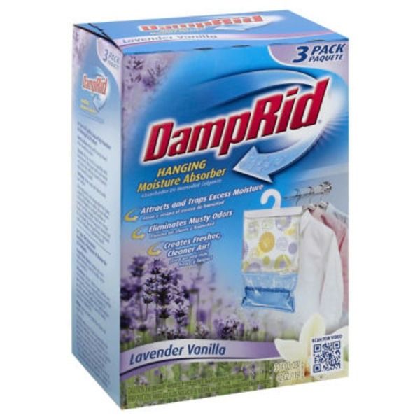 Damp Rid Hanging Moisture Absorbers Lavender Vanilla