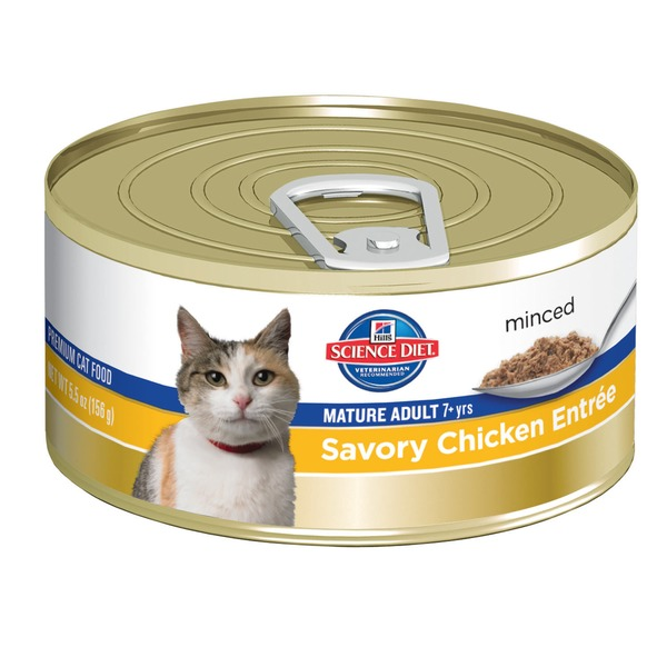 Hill's Science Diet Mature Adult Savory Chicken Entree Minced Cat Food