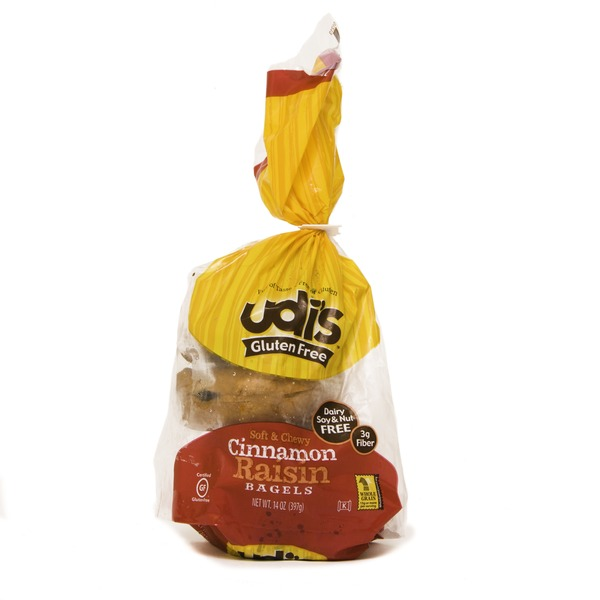 Udis Cinnamon Raisin Bagels