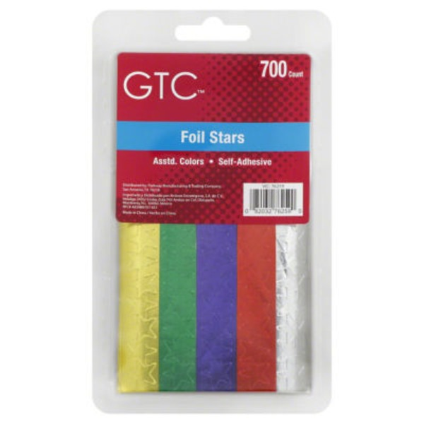 GTC Assorted Colors Foil Stars