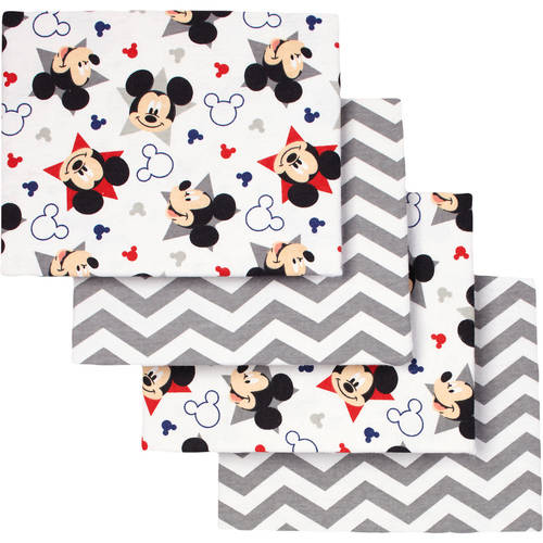 Disney Mickey Mouse Let's Go II Flannel Receiving Blankets