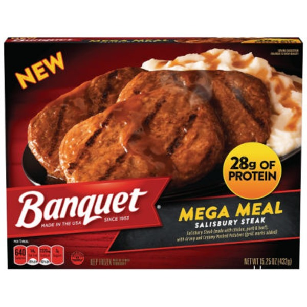 Banquet Mega Meal Salisbury Steak