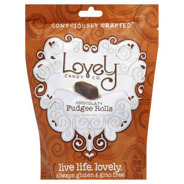 Lovely Candy Chocolaty Fudgee Rolls, Bag
