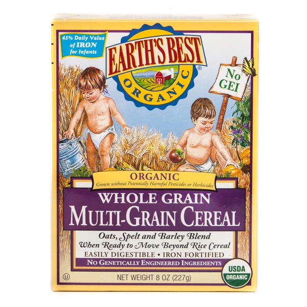 Earth's Best Organic Baby Foods Whole Grain Multi-Grain Cereal