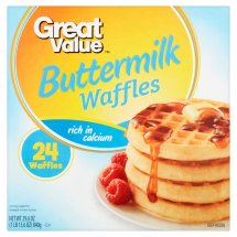 Great Value Buttermilk Waffles, 24 count, 29.6 oz