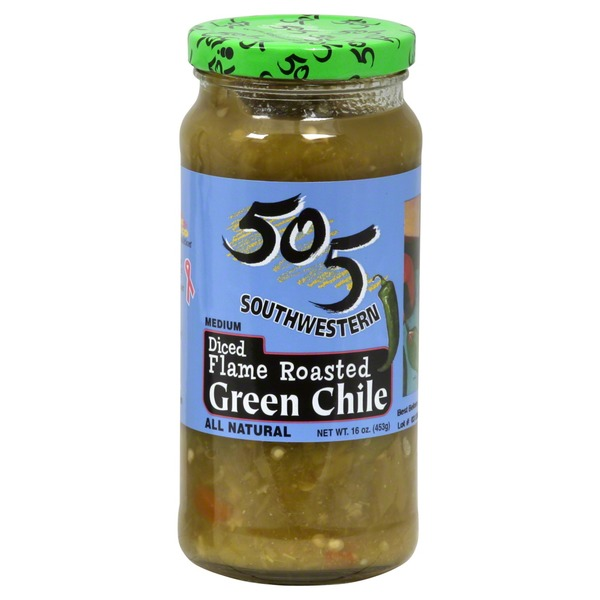 505 Southwestern Green Chile, Medium, Diced, Flame Roasted