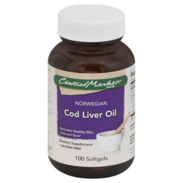 Central Market Norwegian Cod Liver Oil Softgels