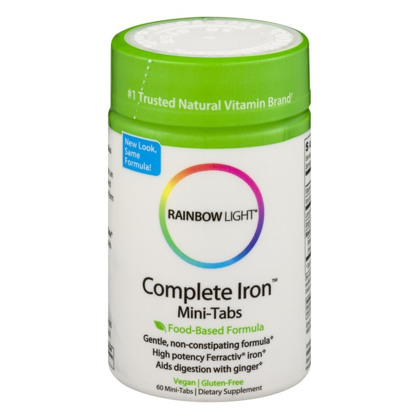 Rainbow Light Complete Iron Mini-Tabs Dietary Supplement Mini-Tabs - 60 CT