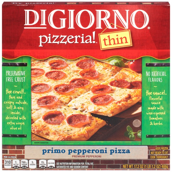 DiGiorno Pizzeria! Thin Primo Pepperoni Pizza