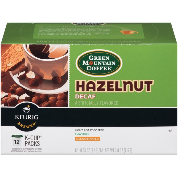 Green Mountain Coffee Hazelnut Decaf K-Cup Packs Coffee
