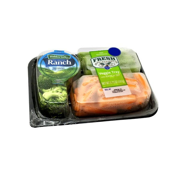 Kroger Fresh Selections Veggie Tray with Ranch Dip