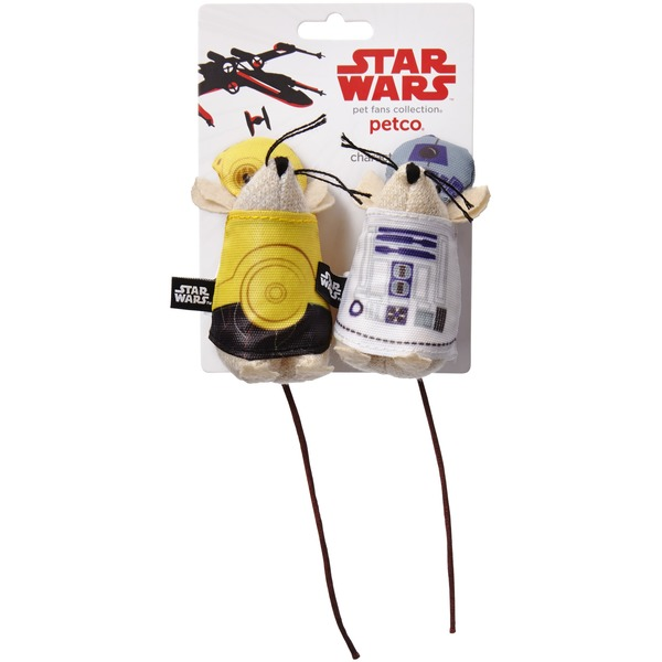 Star Wars C 3 Po & R2 D2 Mice Cat Toys Pack Of 2 Toys