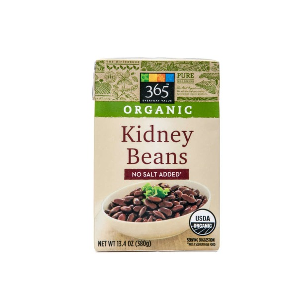 365 Organic No Salt Added Kidney Beans
