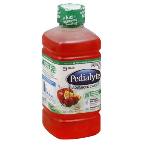Pedialyte Advanced Care Cherry Punch Oral Electrolyte Solution