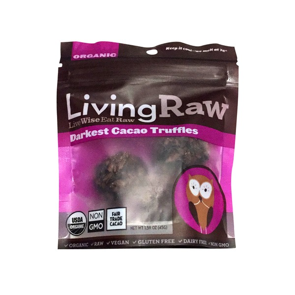 Living Raw Organic Darkest Cacao Truffles