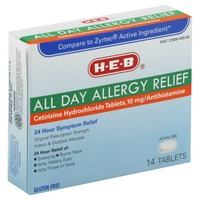 H-E-B All Day Allergy Relief Cetirizine Hydrochloride 10 mg Tablets